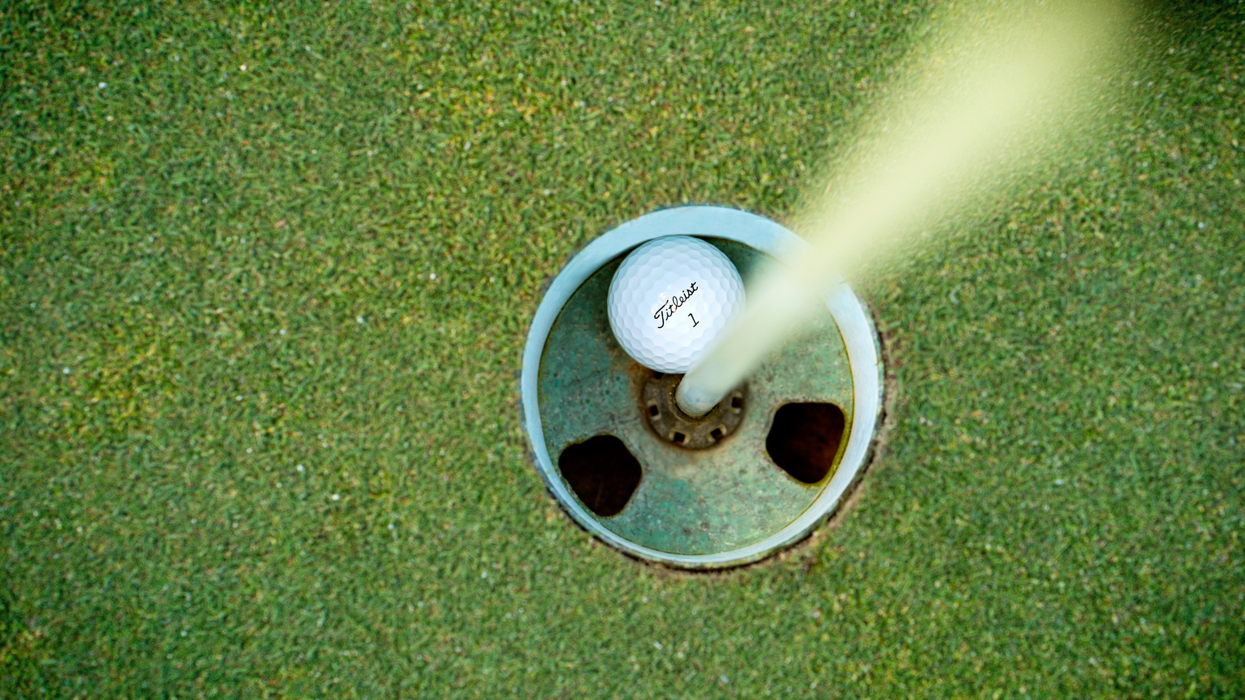 Hole in one at Elk Run golf course