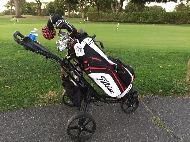 Push Cart For Staff Bag Golf Gear Team Titleist