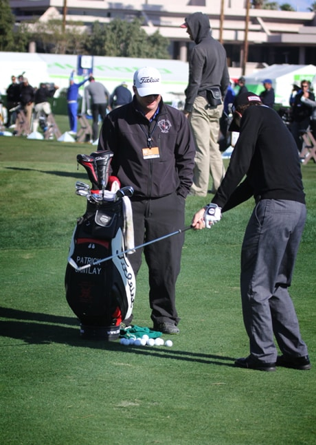 Titleist Brand Ambassador Patrick Cantlay works on...