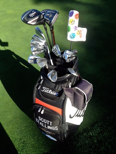 TT spots the bag of Titleist brand ambassador...