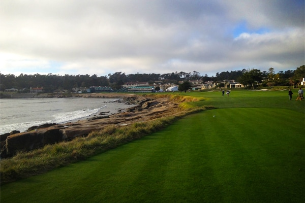 The par-5 18th plays 532 yards along the Pacific...