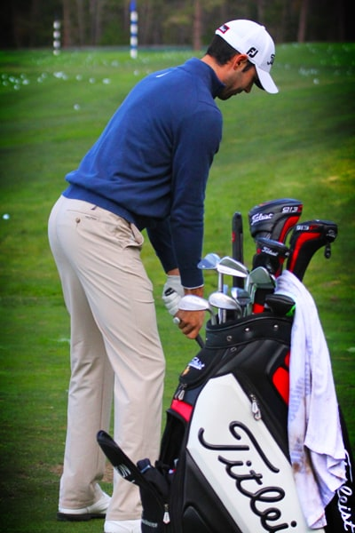 Off the tee, Tringale relies on his 913 D3 8.5...