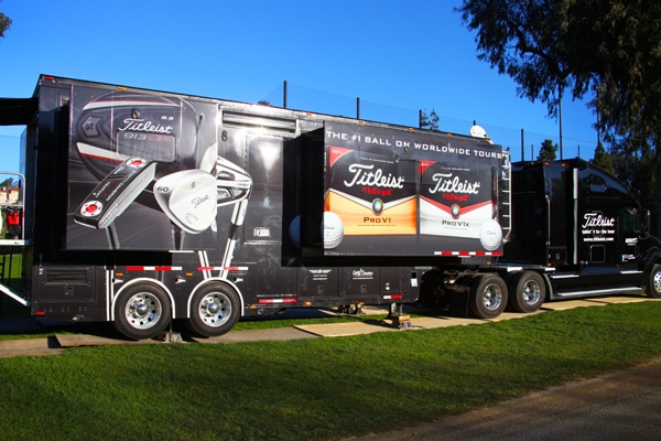 While the Titleist Tour van gets a little SoCal...