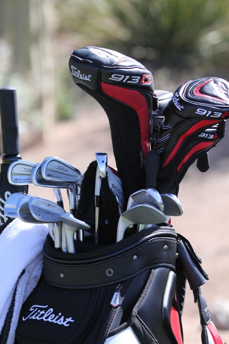 Coetzee is gaming his Titleist 913D3 9.5 driver...