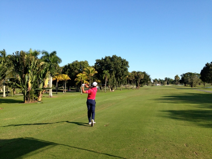 Closing out the day, Matteo Manassero shows his...
