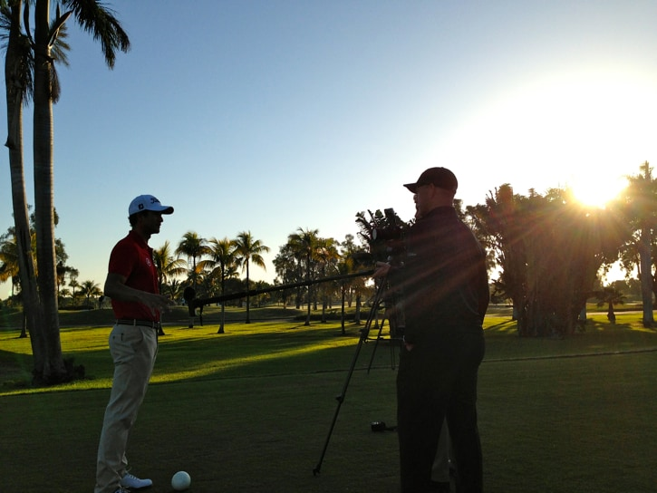 Adam Scott joined Team Titleist bright and early.