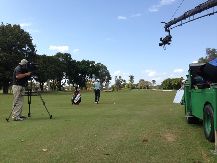 With the winds picking up at Doral, the knock down...