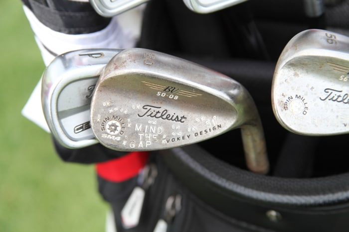 Ben plays three Vokey Design wedges, and this SM4...