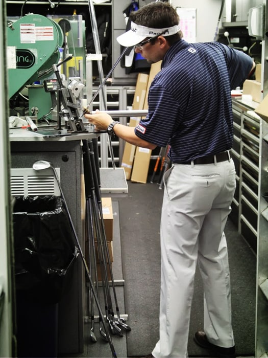 Where we see Vokey Tour Rep Aaron Dill is at the...