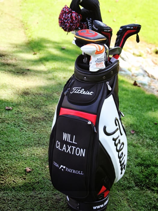 Take a look at Will's Titleist bag.
