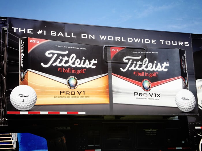 The Titleist Tour truck is ready for action!