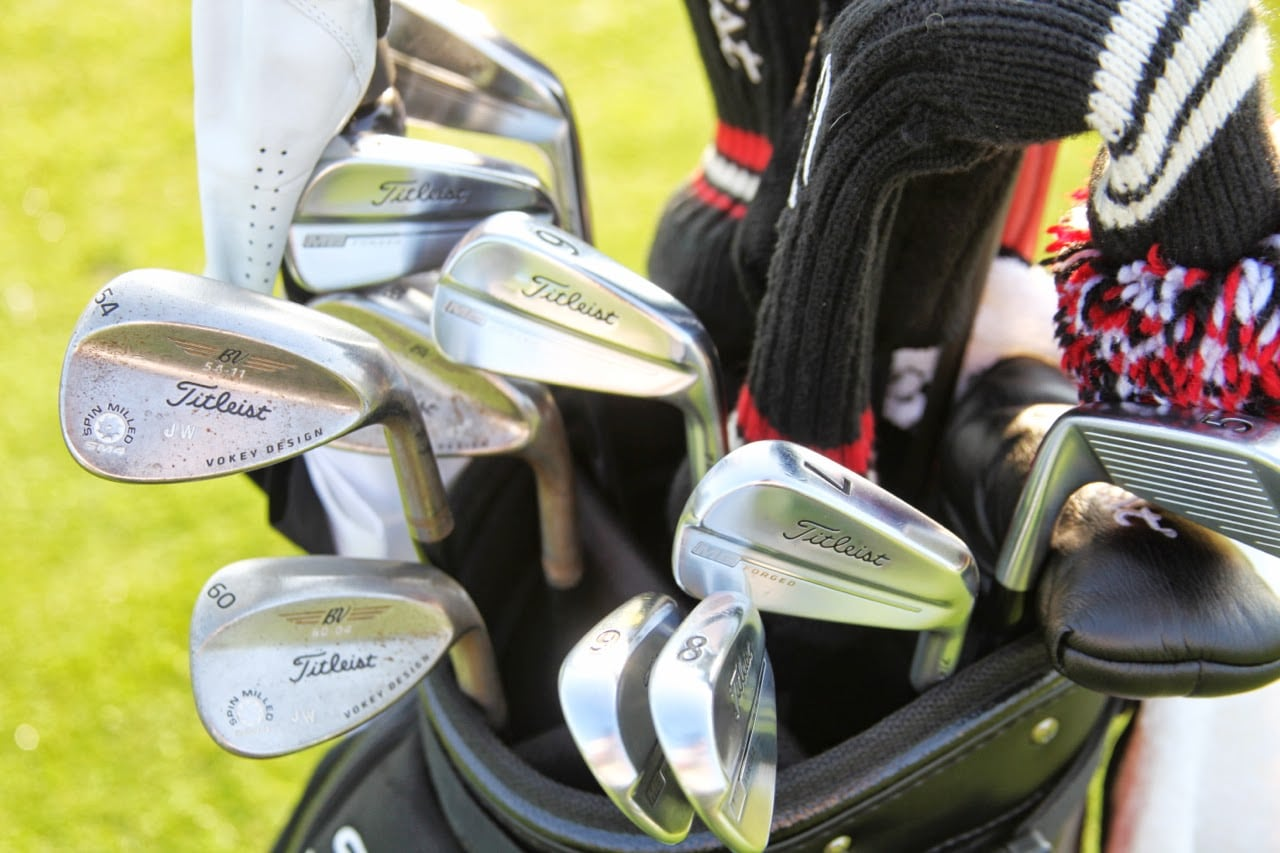 This shiny set of Titleist prototype MB irons...