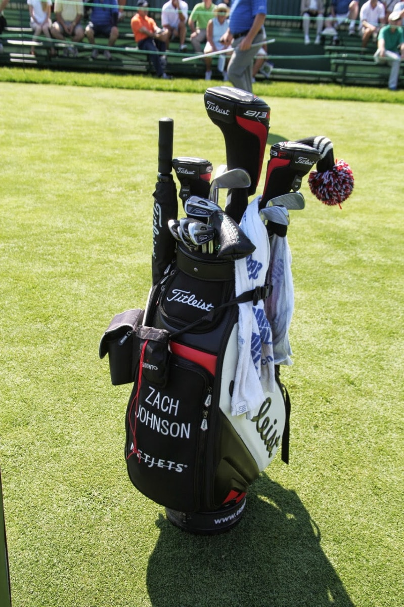 Zach's bag is ready for action.