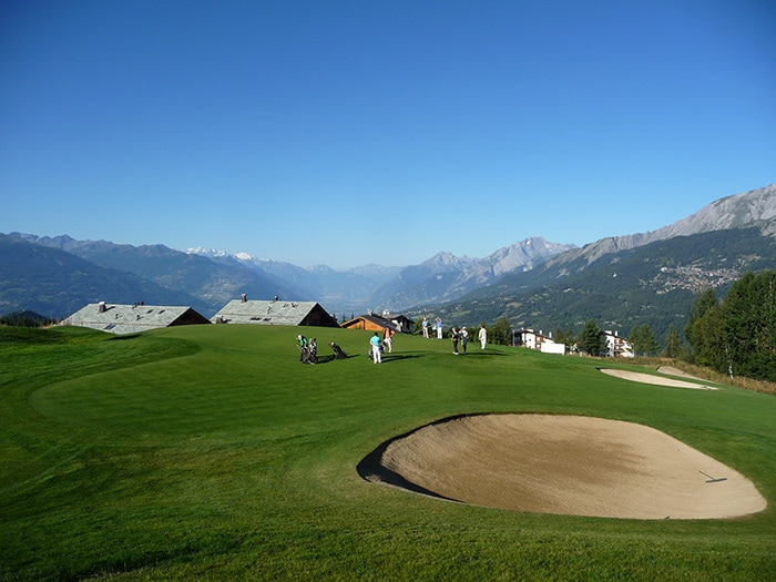 Crans-sur-Sierre in the heart of the Swiss Alps