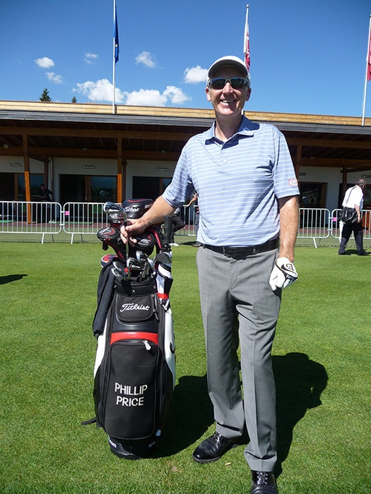 Phillip Price and his new 714 AP1 irons
