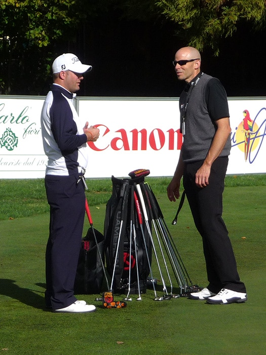 Scotty Cameron Rep, Henry Byrne on the putting gre...