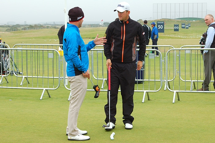 Bernd Wiesberger trying out a new Scotty Cameron...