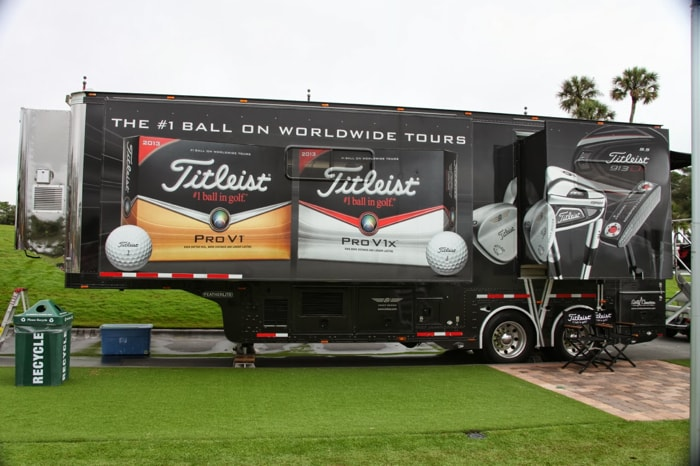 The Titleist Tour Trailer is on the scene.