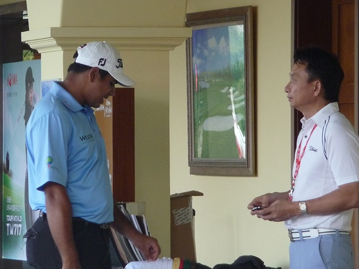 Asian Tour Rep, George Shay chats with Titleist...