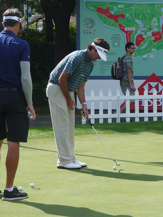 Pro V1x loyalist Bubba Watson on the putting...