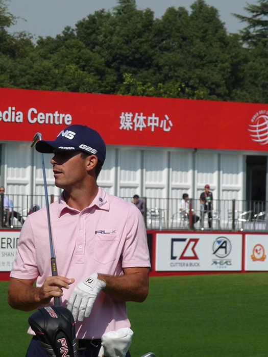 American Billy Horschel takes a moment to relax on...