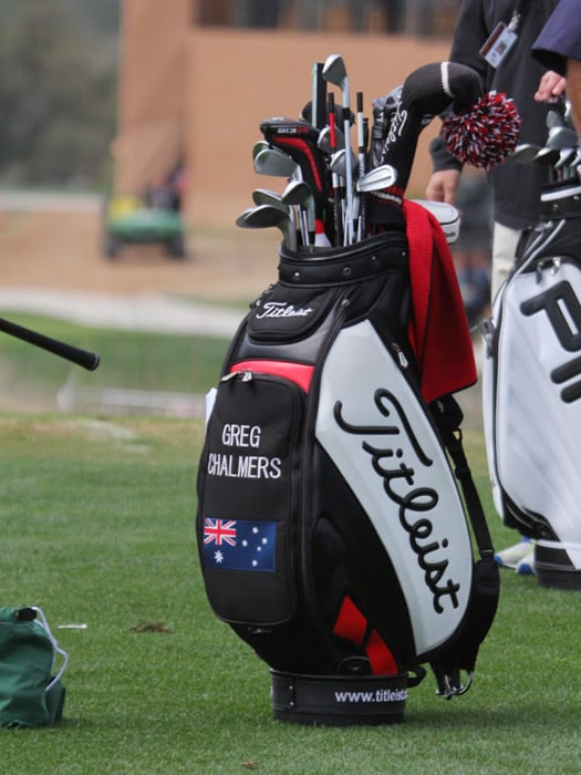 The staff bag of Titleist Brand Ambassador Greg...