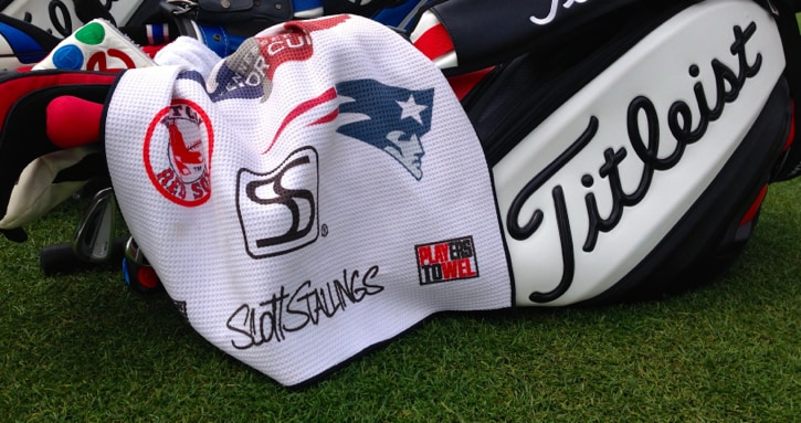 The staff bag of Titleist Brand Ambassador Scott...
