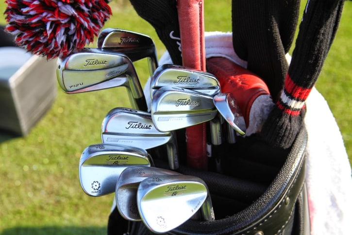 Bud plays the new Titleist MB (714 series) irons...