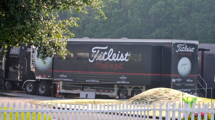 First stop, the Titleist Tour Van... our home away...