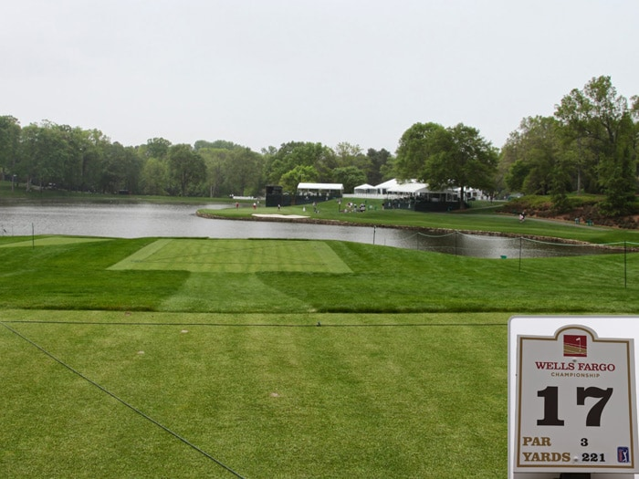 Here's a look at the par-3 17th.