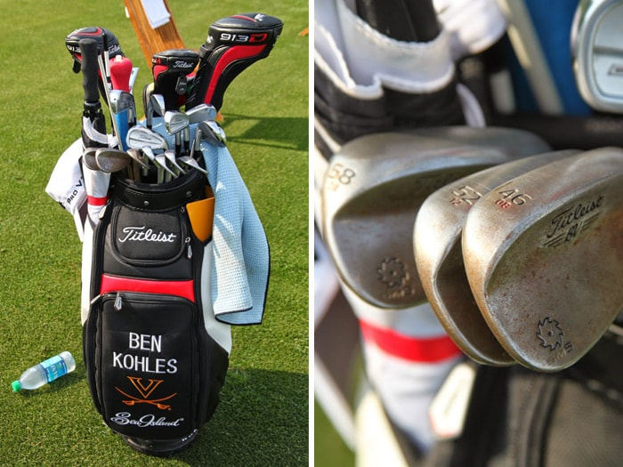 A closer look at Ben's clubs.