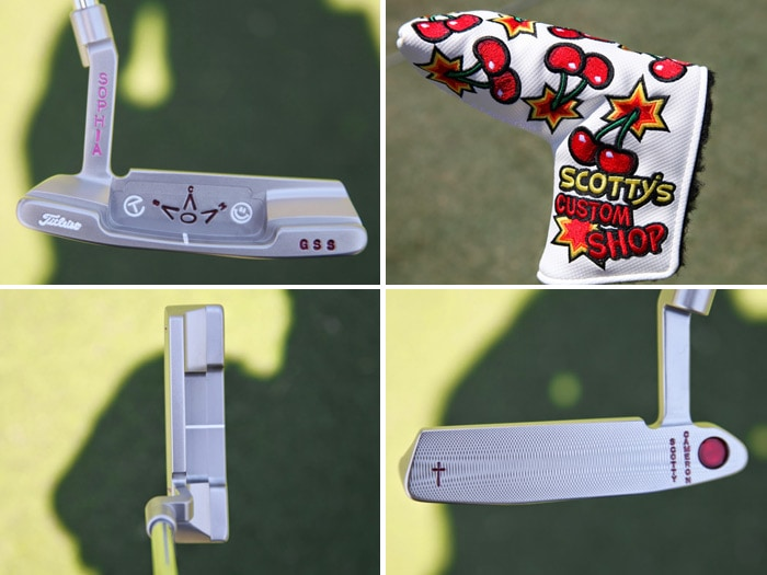 At the practic green we found this custom Scotty...