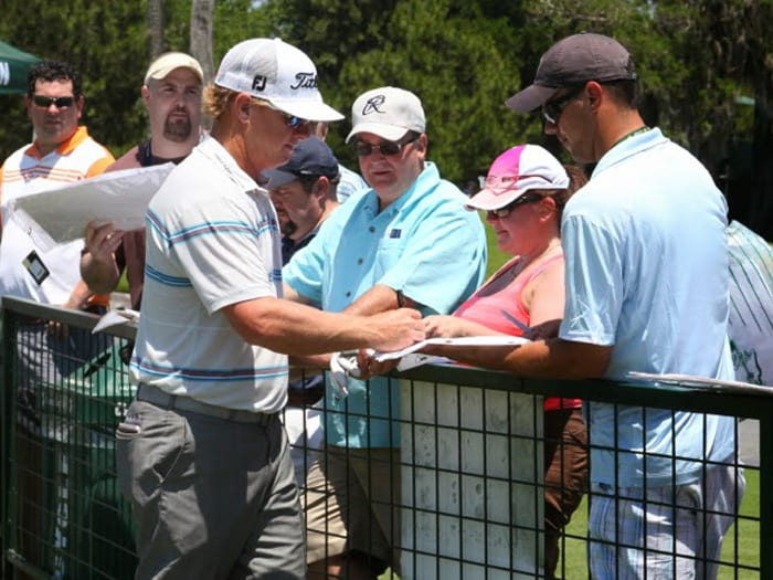 We saw Titleist Brand Ambassador Charley Hoffman...
