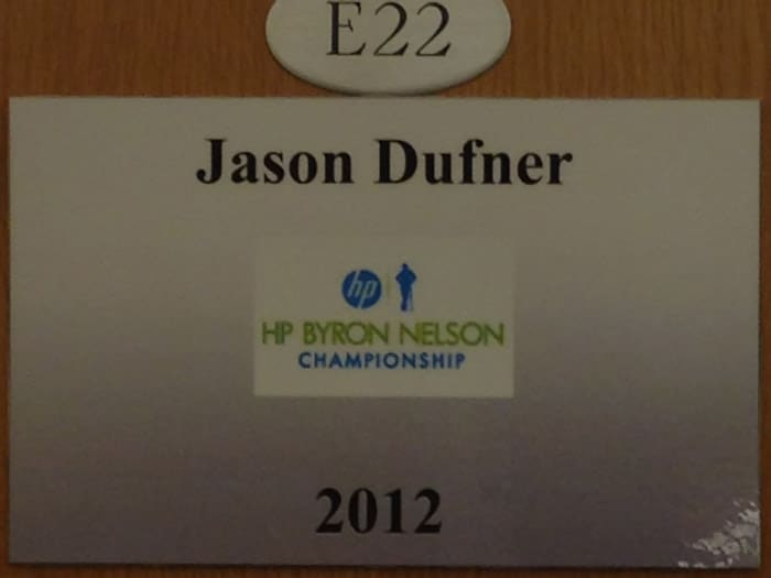 The placard gracing the locker of 2012 Byron...