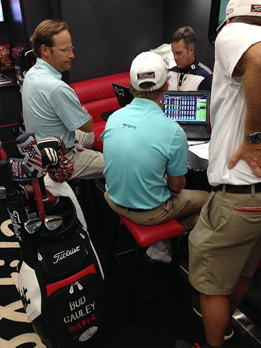 ...Titleist Brand Ambassador Bud Cauley (seated,...