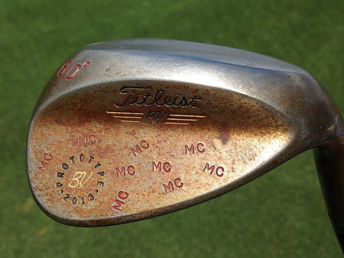 And his favorite club, a special 60 degree Vokey...