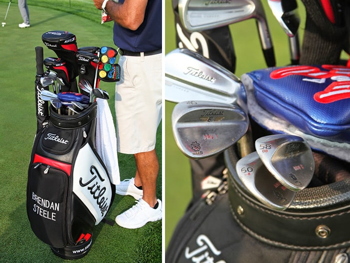 A closer look at Brendan's clubs.