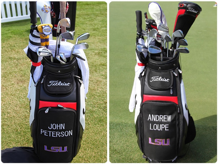 Twin Titleist staff bags!  The Louisiana State...