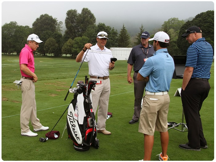 Titleist Tour Representative Chris Tuten tested...