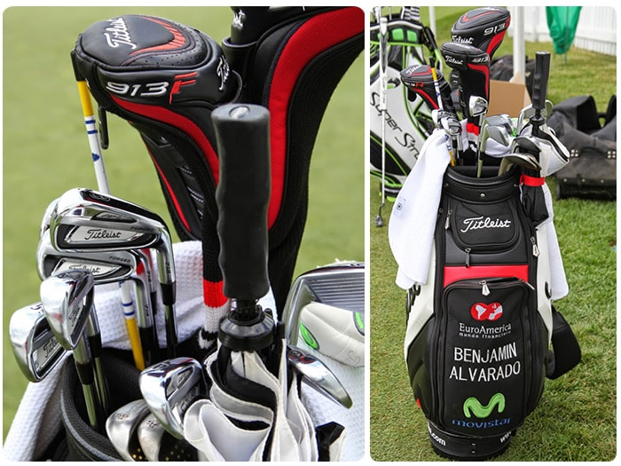 A look inside the staff bag of Titleist Brand...