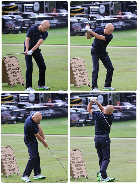 The swing sequence of Titleist Brand Ambassador...