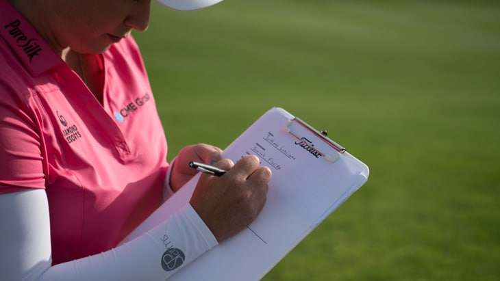 As Brittany Lincicome filled out her Team Titleist...