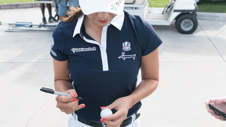 Hee Young Park has always marked her Titleist with...