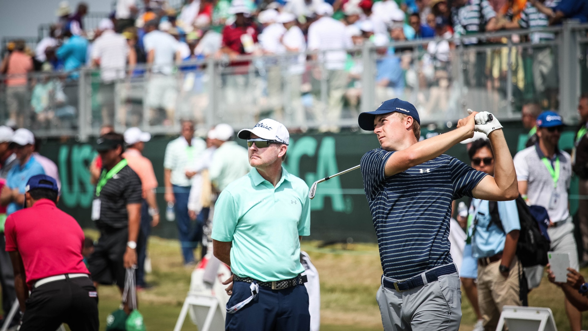 Titleist Brand Ambassador Jordan Spieth works with...