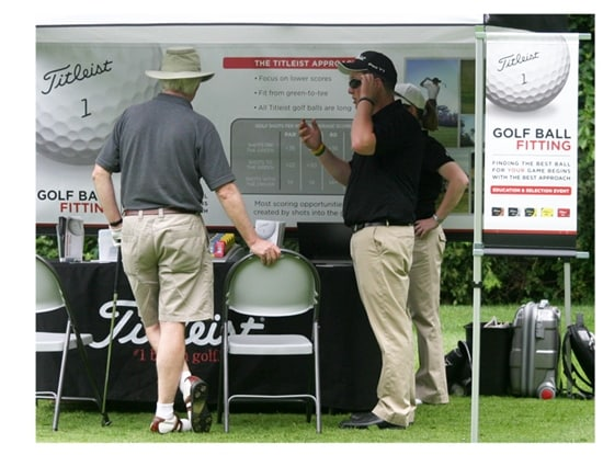 Titleist golf ball fitting on the road with