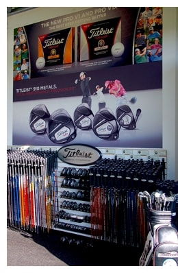 8512.Miles 2D00 of 2D00 Golf 2D00 Vertical 2D00 Display Inside Titleists Regional Fitting Centers: Miles of Golf   Ypsilanti, Michigan