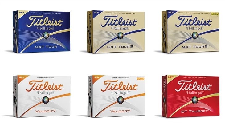 Introducing the new NXT Tour, NXT Tour S, Velocity and DT TruSoft golf balls