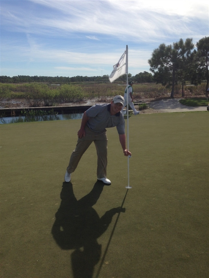 Superbowl Sunday Hole in One at The Medalist Golf Club, Hobe Sound Florida