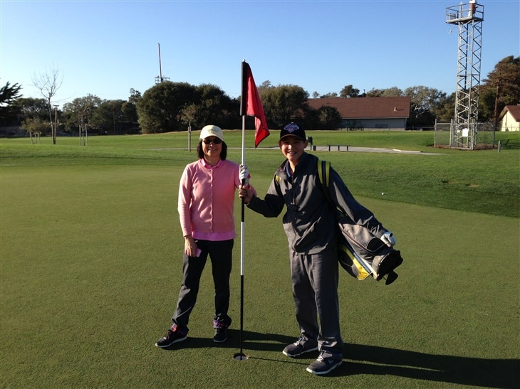 Mother and son hit two hole in one on the same hole