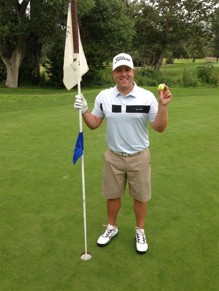 Hole in one at Fallbrook Golf Course